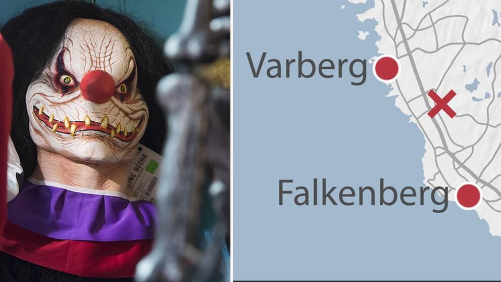 Polisen känner till fler händelser i Halland den senaste tiden där allmänhet reagerat på personer utklädda till clowner. Hör intervjun med polisens utredningschef i Varberg Jan Nicklasson.