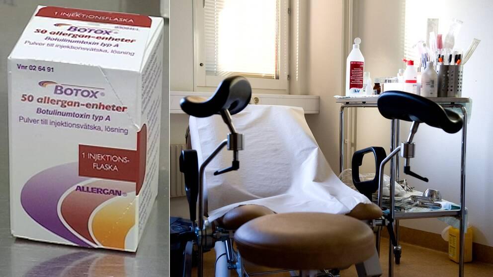 Studie med botox genomförs på Danderyds sjukhus.