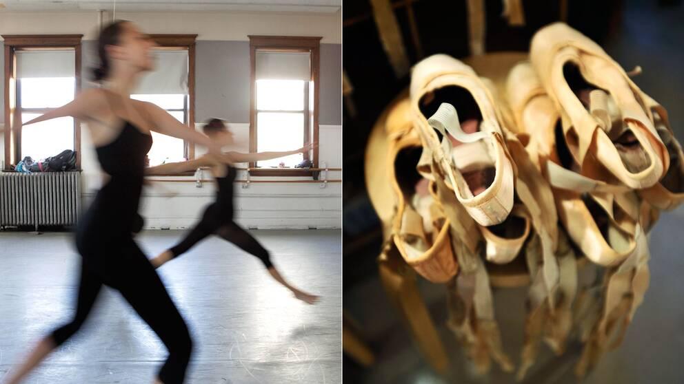 Dansare och balettskor.