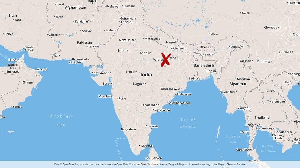 Karta Indien Thailand.24 Ihjaltrampade I Indien Svt Nyheter