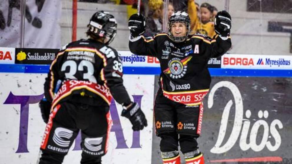 Luleås Michelle Karvinen har gjort poäng i samtliga tio matcher av SDHL.
