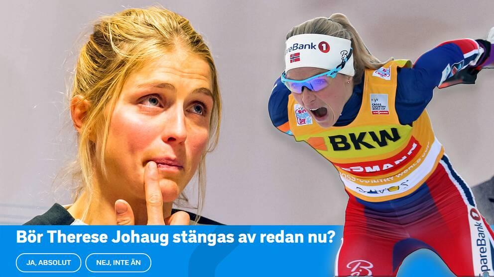 SVT Sport:s läsare: Stäng av Johaug direkt