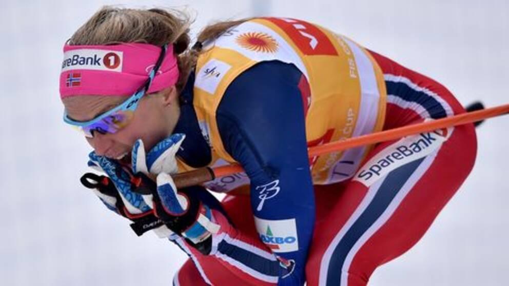 Therese Johaug under världscupen tidigare i år.