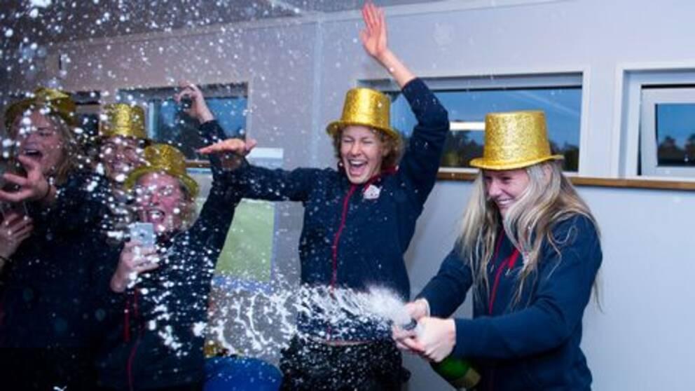 Linköping firar sitt SM-guld.
