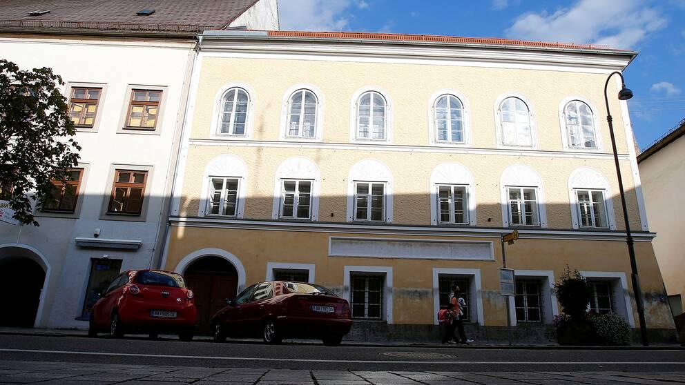 Huset i Braunau am Inn, Österrike, där Adolf Hitler föddes 1889.