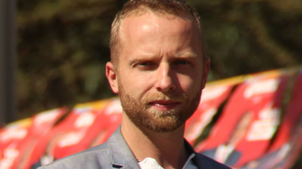 Johan Ripås, SVT:s Afrikakorrespondent.