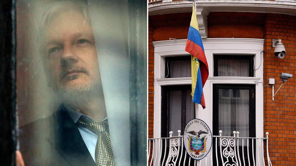 Julian Assange på Ecuador ambassad