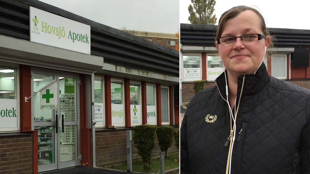 Anna Niemierko bor i närheten och är ofta tvungen att uträtta ärenden på apoteket i Hovsjö centrum.