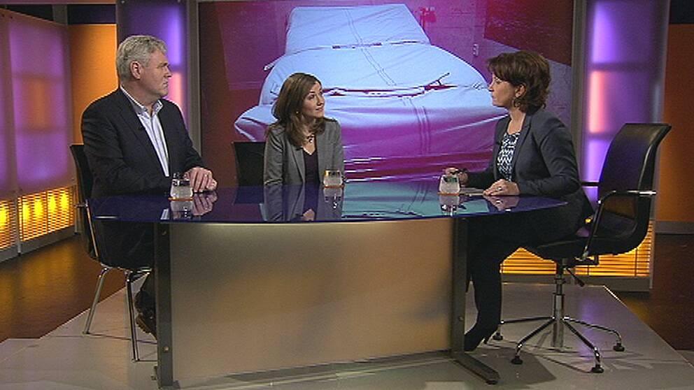 Anders W Jonsson och Sofia Åkerman i Agenda.
