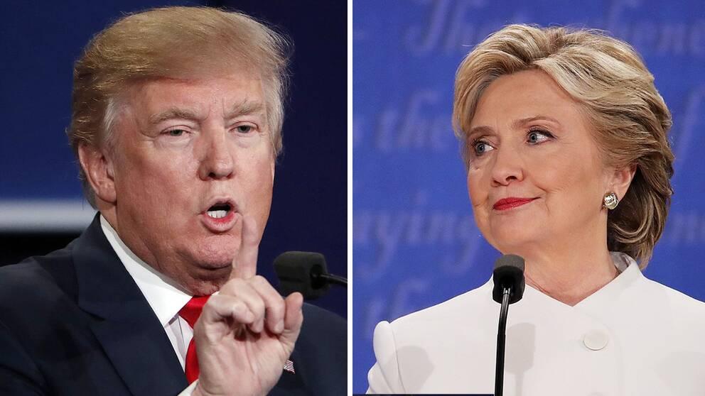 Donald Trump och Hillary Clinton