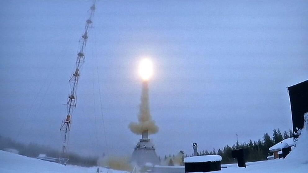 Raket skjuts upp på Esrange i Kiruna