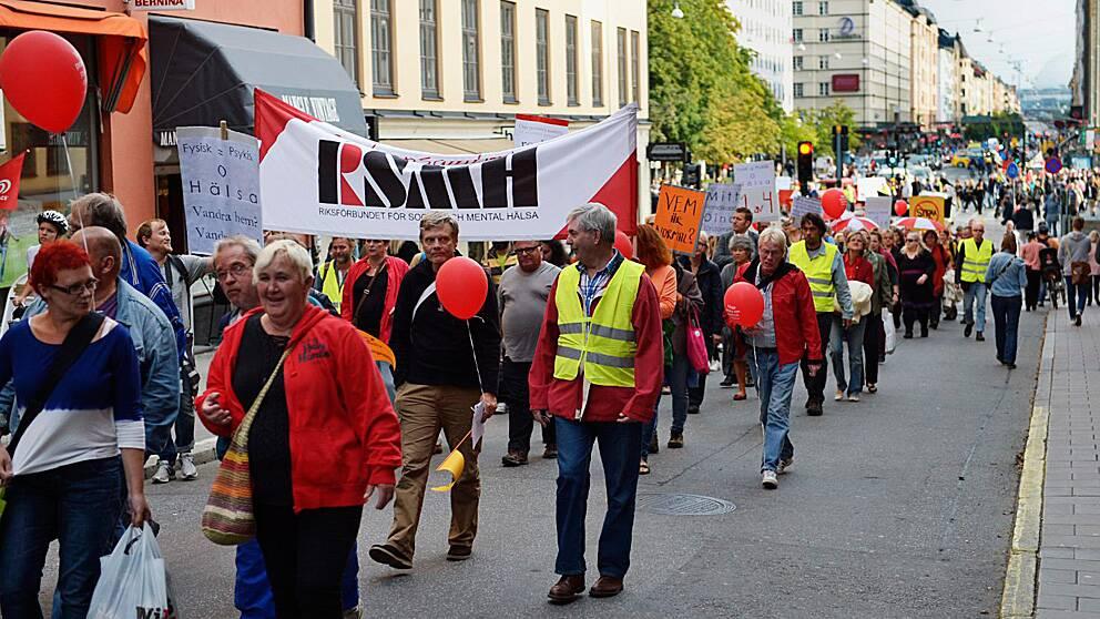 Ångestparaden i Stockholm i september till stöd för personer med psykisk ohälsa.