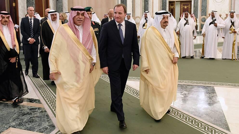 """Löfven i Saudiarabien: """"Har varit tydlig"""""""