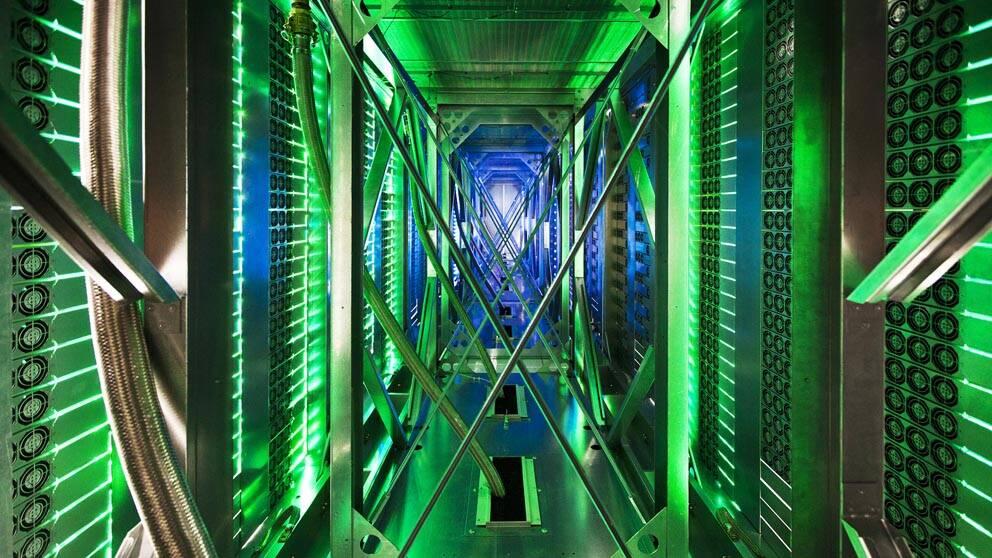 Serverhall på ett av de företag som NSA ska ha avlyssnat – Google data center i Mayes County, Oklahoma.