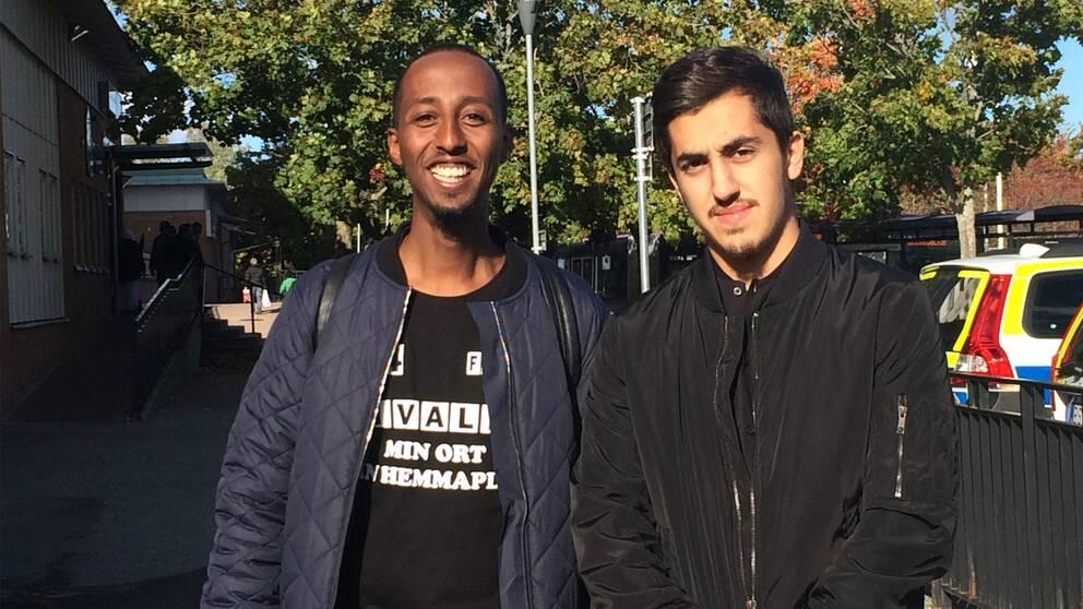 Khalid Mohammed och Dan Hersan vill vara goda förebilder.