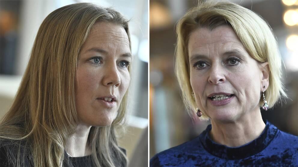 Emma Henriksson (KD) & Åsa Regnér (S).