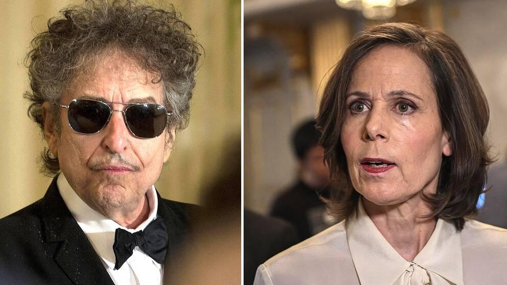 Bob Dylan och Sara Danius