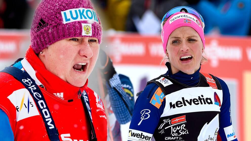 Ryska skidförbundets president, Jelena Välbe, tonar ner dopningsaffären kring Therese Johaug.