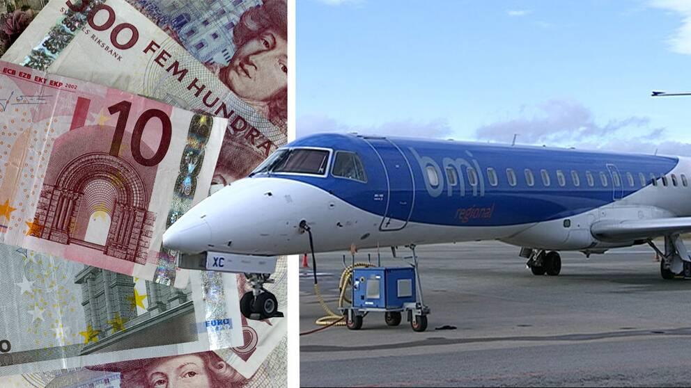 Flygplan och pengar