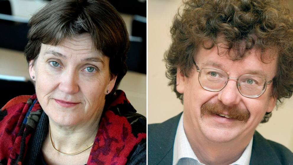 S-kvinnors ordförande Lena Sommestad och Lars Stjernkvist, fd partisekreterare och numera kommunalråd i Norrköping (S).