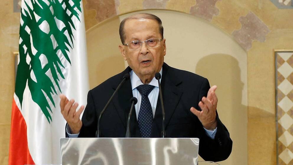 Michel Aoun är Libanons nya president.