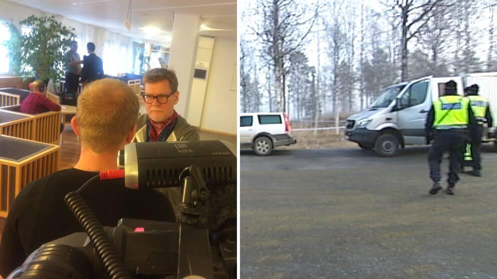 Den åtalade 26-åringen och blid från olycksplatsen i Fredrika.
