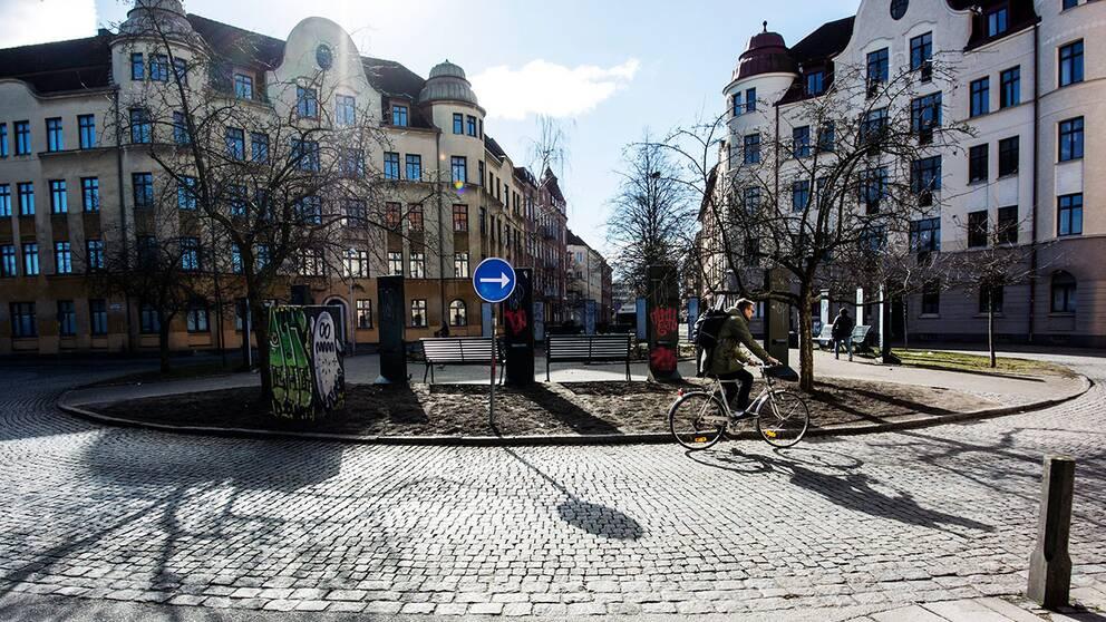 """Den så kallade """"Knarkrondellen"""" i Malmö."""