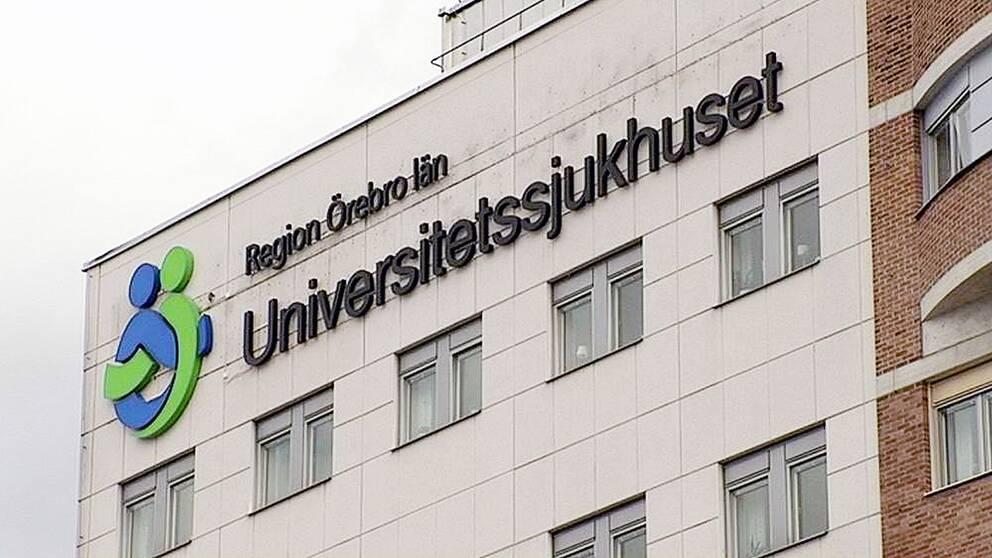 Region Örebro län och en bild på Universitetssjukhuset i Örebro, USÖ.