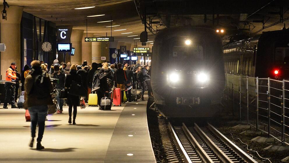 Id-kontroller på Kastrup.