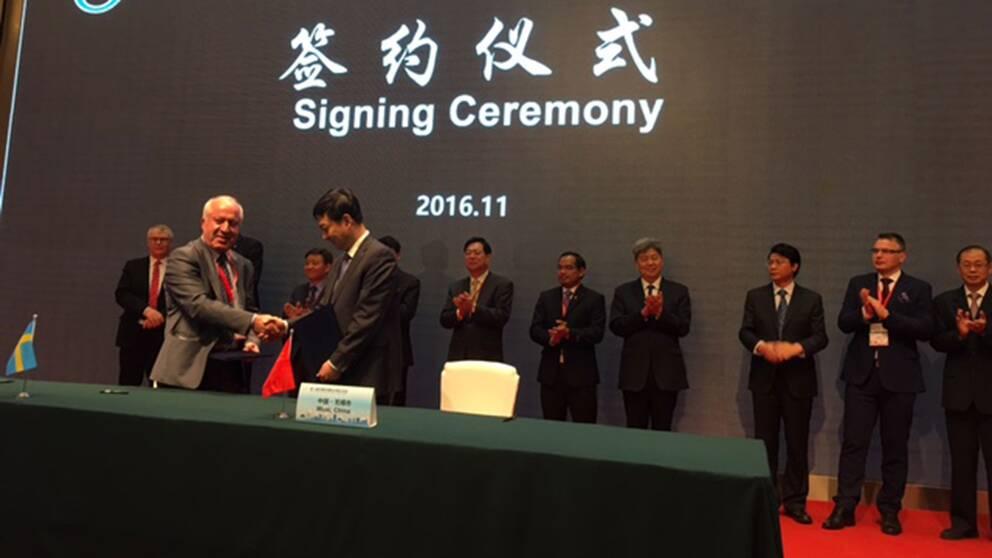Södertälje tecknar nytt vänortsavtal med kinesiska Wuxi.