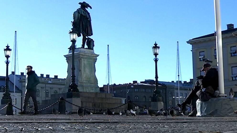 Gustaf Adolfs torg i Göteborg.