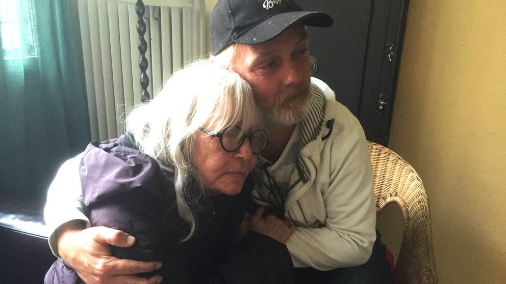 Hemlösa paret Pia Spentz och Robert Fransson