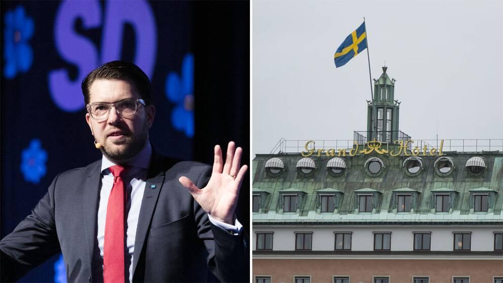 Jimmie Åkesson och Grand Hotel.