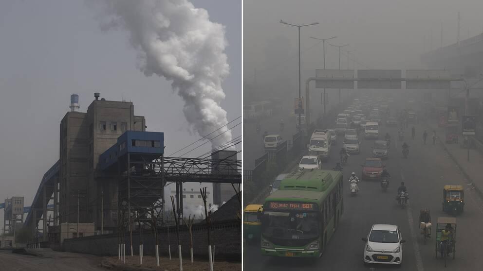 Kina och Indien – två länder i världen som brottas med svåra utsläppsproblem på flera håll.