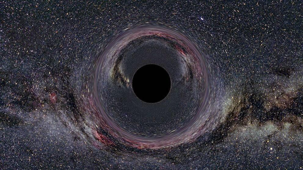 En målning på ett svart hål
