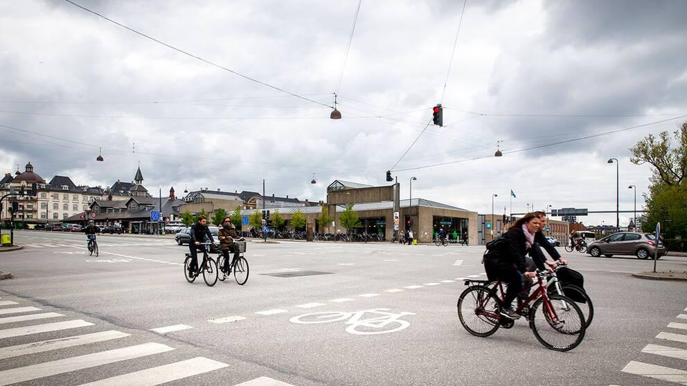 cyklister i Köpenhamn