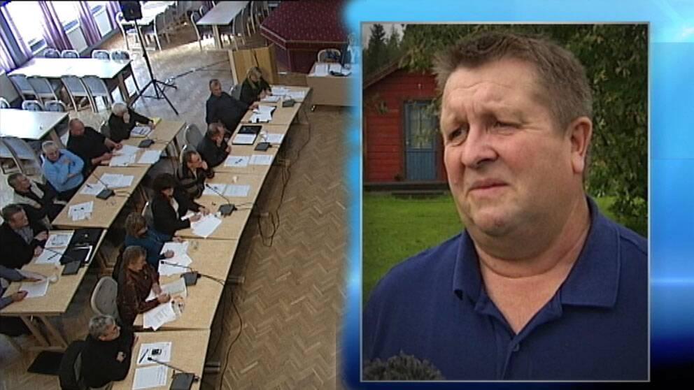 Kommunalrådet Tomas Mörtberg i Övertorneå och kommunfullmäktige i Övertorneå