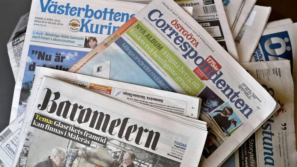 Lokaljournalistik fattas i flera svenska kommuner.