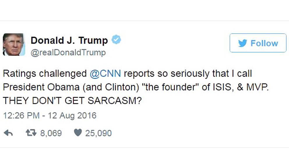 Donald Trump twittrar om kopplingar mellan vaccin och autism.