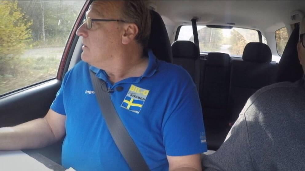 Ingar Evaldsson håller koll på vägarna.