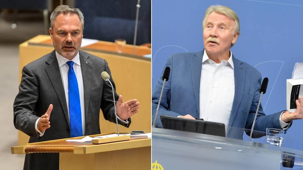 Jan Björklund (L) och Ilmar Reepalu (S).