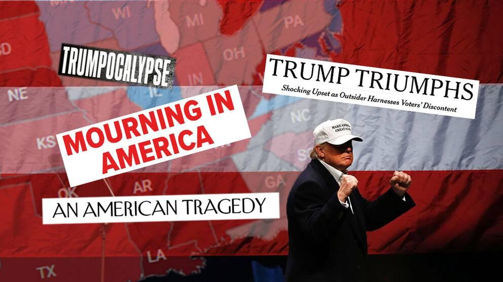 Några av onsdagens rubriker efter Donald Trumps valseger.