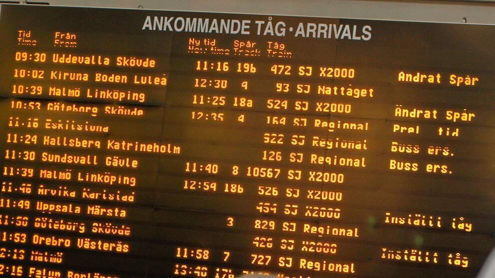 Trafikverkets ändrade kriterier gör att ett tåg räknas som försenat först efter femton minuter.