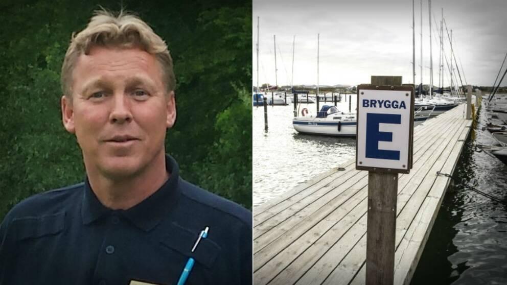 Patrik Wernersson vid polisens båtsamverkan Älvsborg.