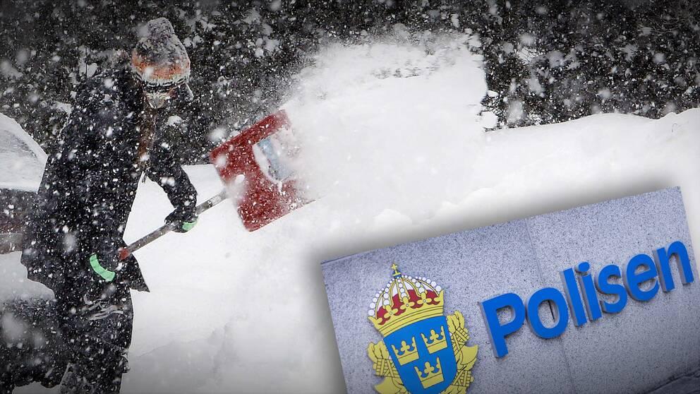 Polisen varnar för falska snöskottare