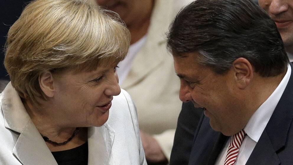 Angela Merkel och Siegmar Gabriel