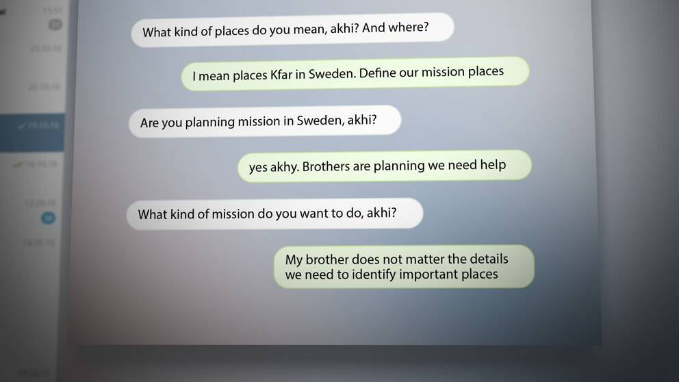 Skärmdump chatt-konversation.