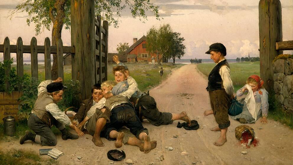 """""""Grindslanten"""", målad av August Malmström år 1885."""