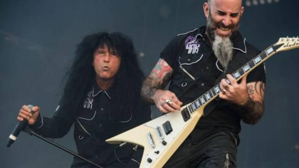 Joey Belladonna och Scott Ian, Anthrax.