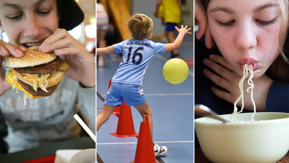 Mat, barn, ungdomar, motion, hälsa